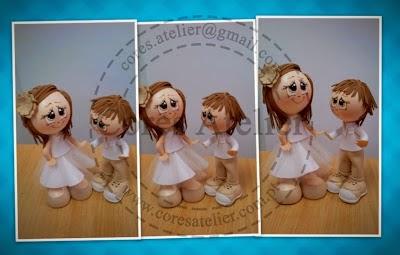 Bonecos personalizados Batizado