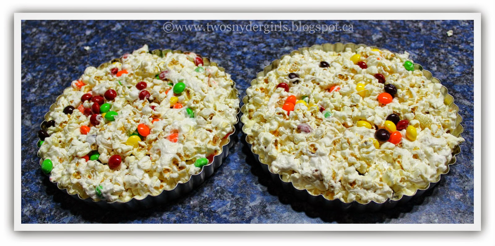 Popcorn Pizza ready to decorate