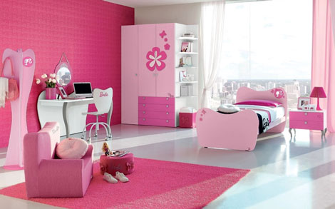 DORMITORIO ROSADO PARA NIÑAS - DORMITORIO DE BARBIE - PINK BEDROOM - BARBIE'S BEDROOM - BARBIE'S BEDROOM