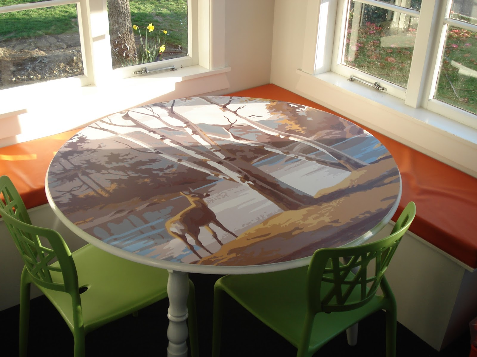 Attractive Table Decal: Paint By Numbers Deer