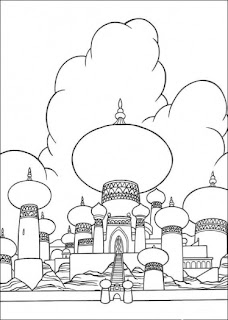 princess and castle coloring pages