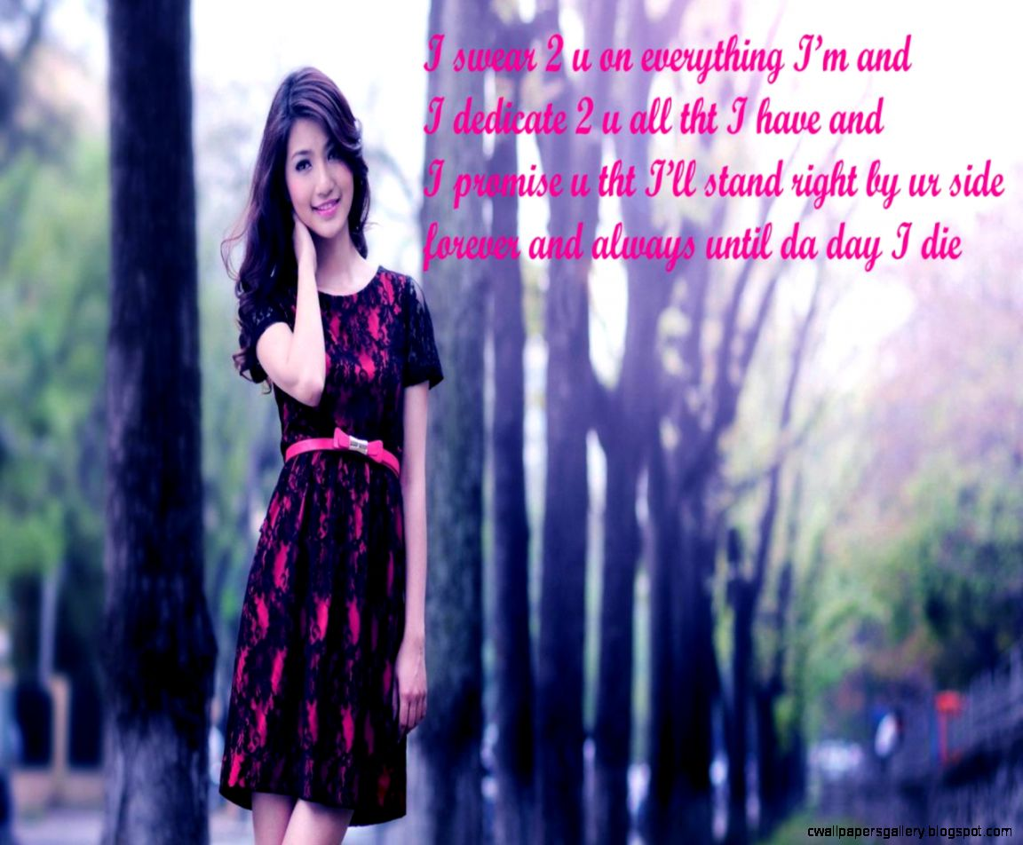 beautiful and sweet girl for love with cute message wallpapers for