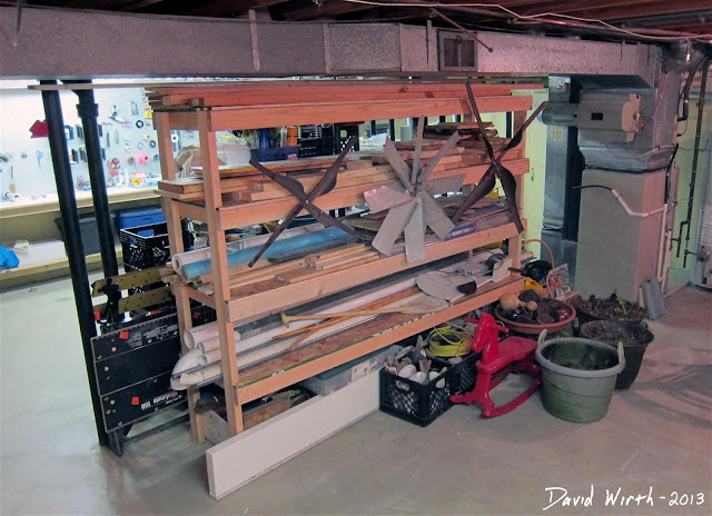 organize your my basement with shelf, how to make, easy, build tools