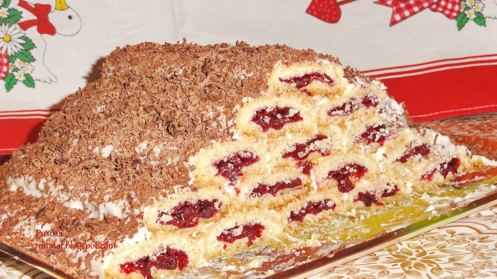 Рецепт торта зимняя вишня в домашних условиях 168