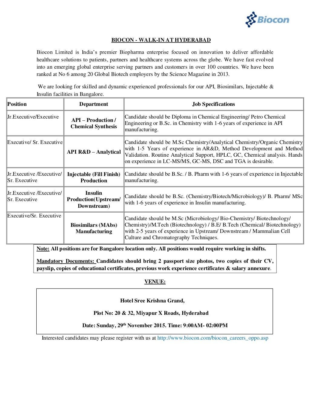 Biotech fresher resume sample