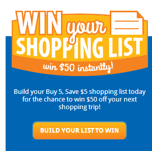 win your shopping list kroger instant win game