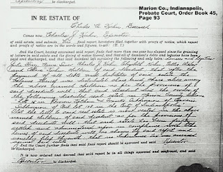 Probate Proceedings, Charles A. Kuhn, Marion County Probate Court, Indianapolis, IN, 1916-1917