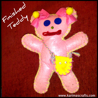 teddy bear felt craft