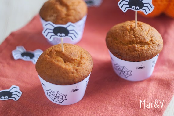 Receta muffins de calabaza para Halloween