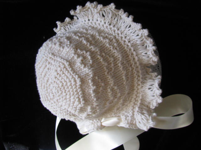 Knitting Needles Case Pattern : knitnscribble.com: New baby bonnet knitting pattern