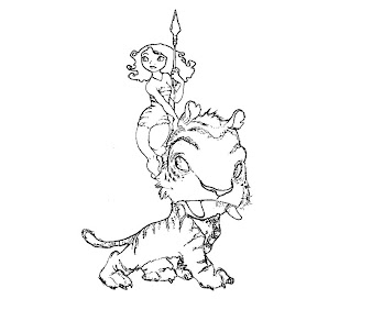 #8 The Croods Coloring Page