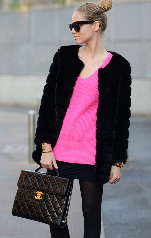 Luxe Faux Mink Fur Coat