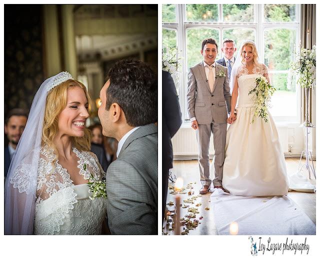 wedding vow at Nonsuch mansion in Surrey