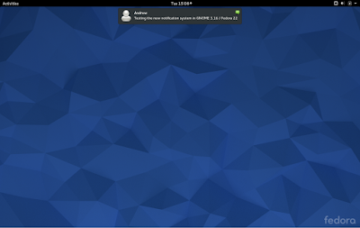 Fedora 22 workstation screenshots