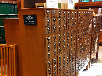 Multnomah County Central Branch Periodicals Room Index