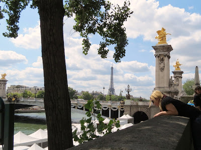 Pont Alexandre III and Tour Eiffel, Paris, France www.thebrighterwriter.blogspot.com