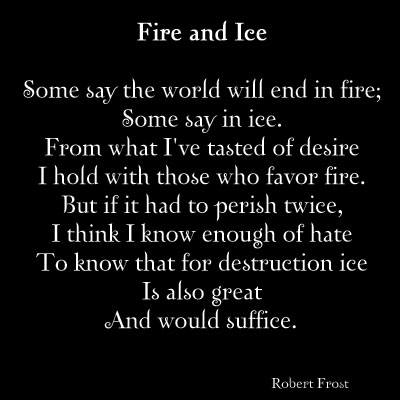 Fire and lee Robert frost English poetry ~ Welcome to World Poetry ...