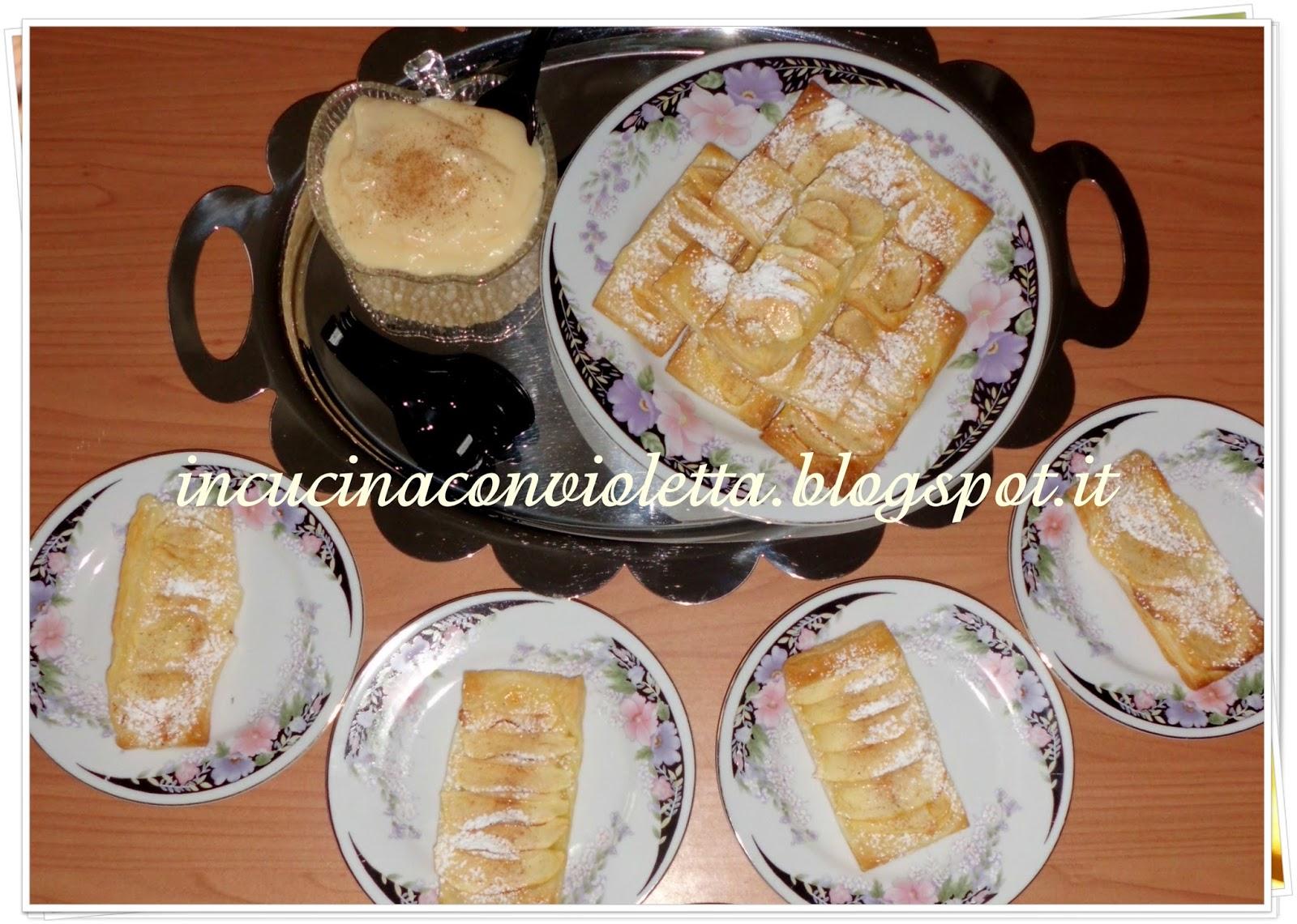 ... Cucina Con Violetta: Sfogliatelle con crema pasticcera e mele Violetta