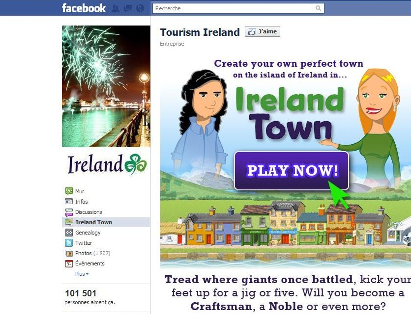 Blog marketing insolite l 39 irlande sur facebook - Office de tourisme irlandais ...