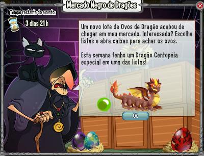 Dragão Centopéia pode ser ganho pelo mercado negro de dragões: