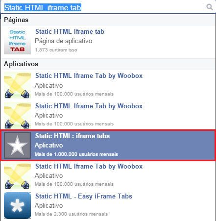 Static HTML iframe tab inserir botão paypal no facebook