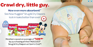 Free Huggies Snug and Dry diaper