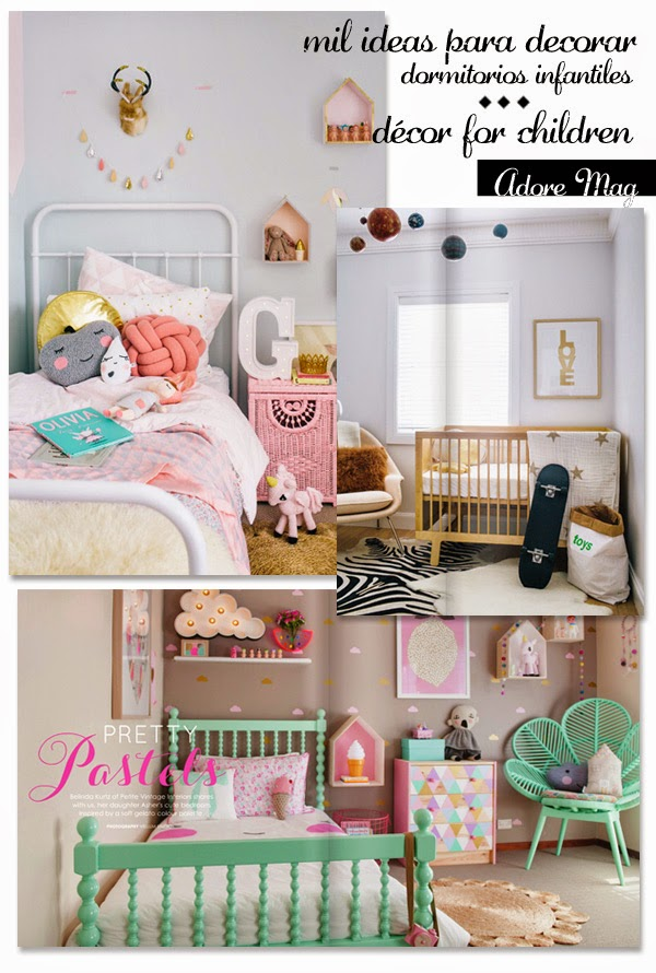 El especial dormitorios infantiles de la revista adore mag for Ideas para decorar dormitorios