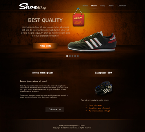 Create ShoeShop Web Design In Photoshop