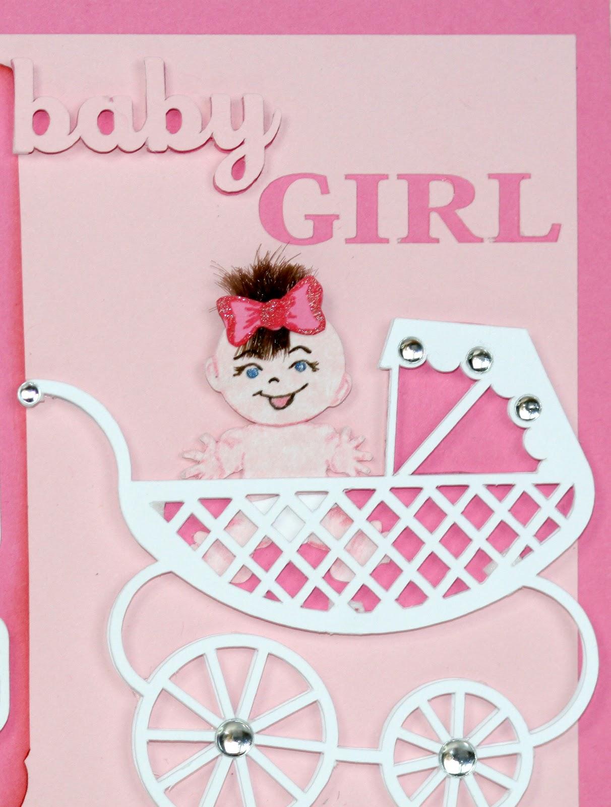Поздравительные открытки для новорожденных девочек
