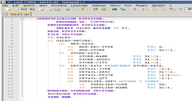 Flavours Of Informatica Development Working With Cobol