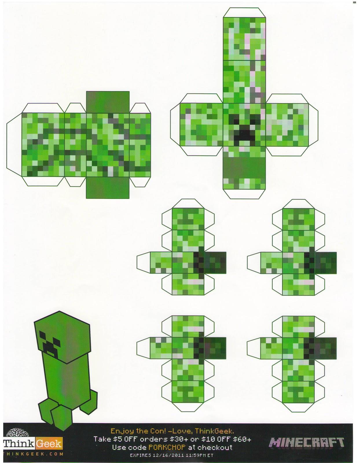 minecraft templates papercraft papercraft