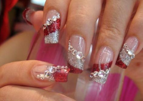 Ideas de manicura francesa para u as largas dise os de - Piedras para decorar unas ...