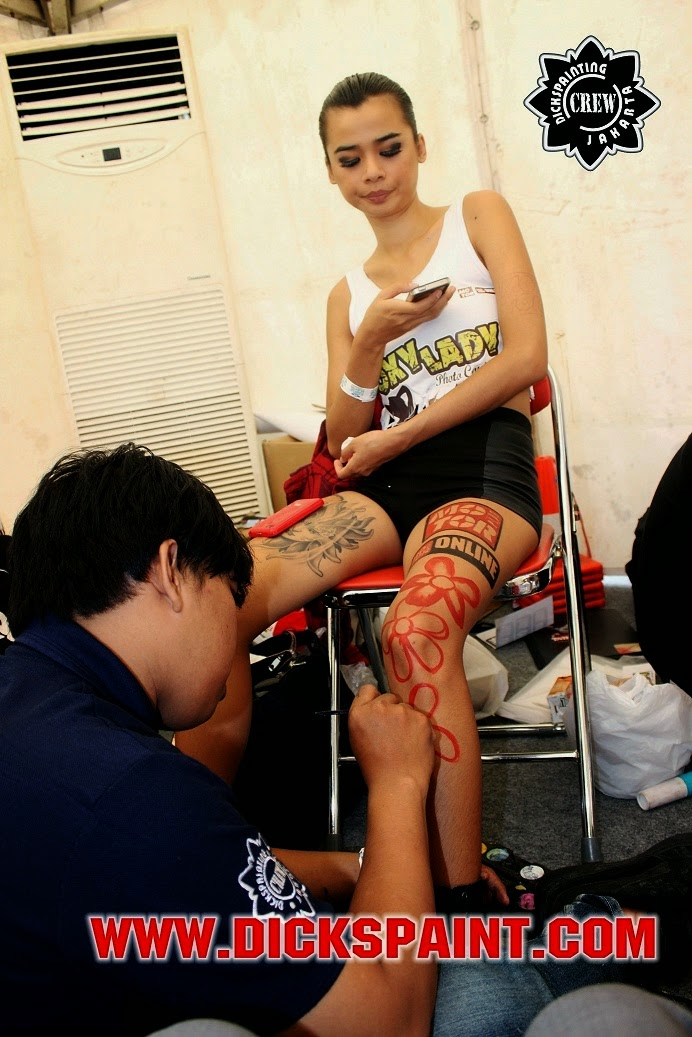 body painting jakarta kawasaki