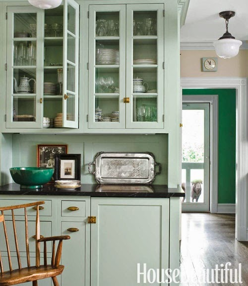 Mint Green Kitchen Paint: Abby Manchesky Interiors: Slate Appliances + Plans For Our
