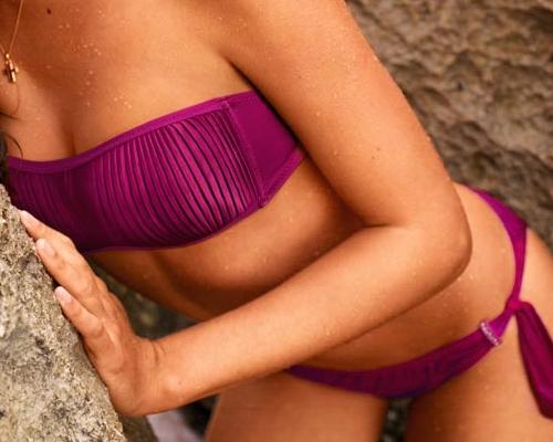 Ciklámen pánt nélküli bikini - Calzedonia kollekció 2013