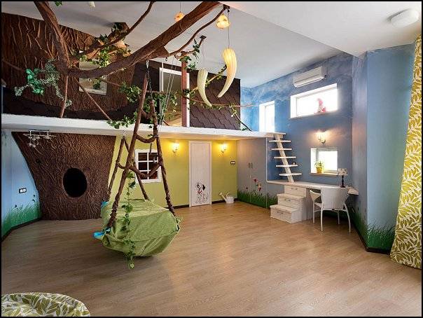 Decorating theme bedrooms maries manor treehouse theme for Forest themed bedroom ideas