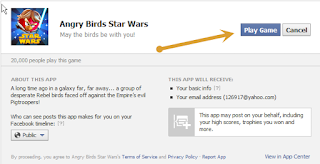 Angry Birds Star Wars facebook application