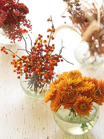 Cottage flavor an inviting thanksgiving table Simple thanksgiving table decorations