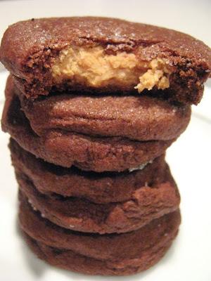 Chocolate Peanut Butter Surprise Cookies Recipe