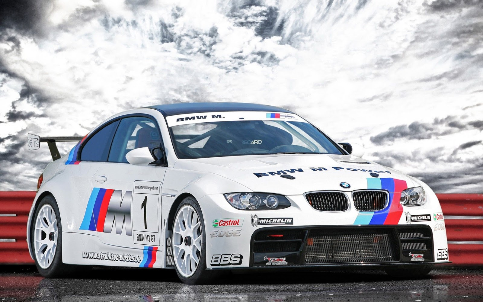BMW White Racing Car