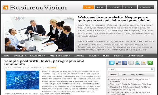 Template Business Vision