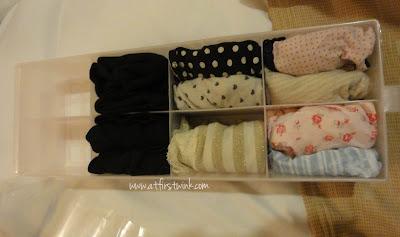 Daiso underwear case with content