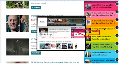 Cara Memasang Widget Like Fanspage Facebook Melayang di Blog