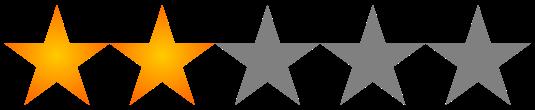 Resultado de imagen para 2 de 5 estrellas