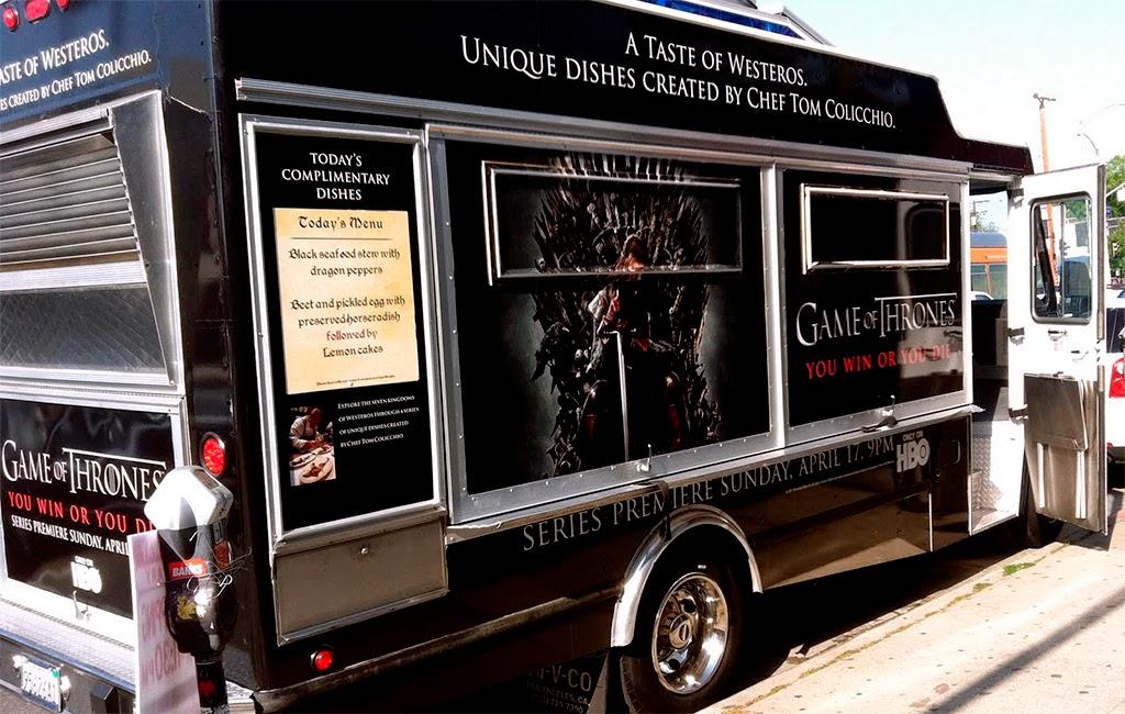food truck de juego de tronos