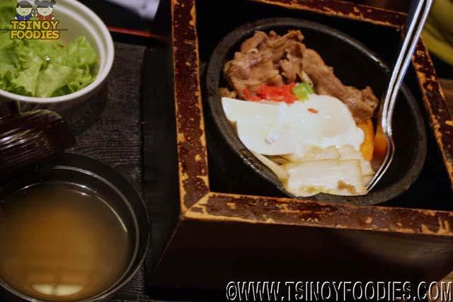 beef sukiyaki rice stone pot set