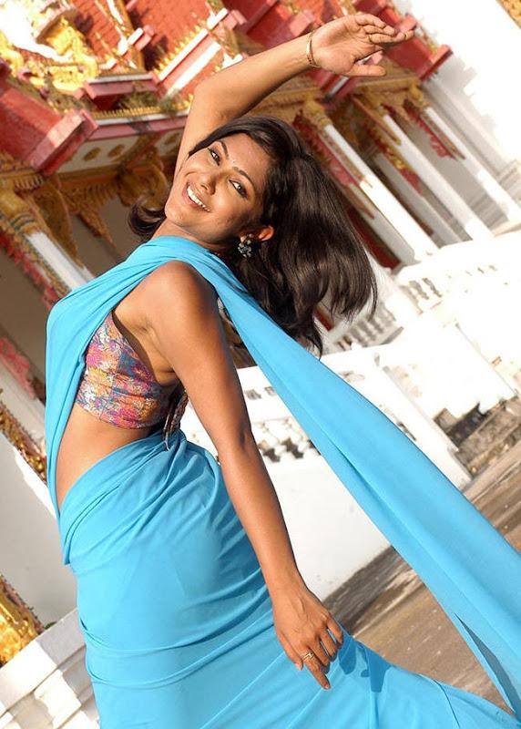 Kamalini Mukherjee Blue Saree Hot Sexy Curves Deeksha Seth Bikini