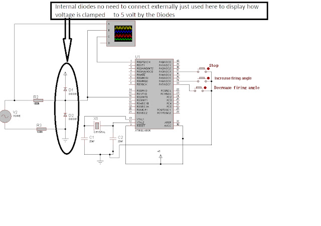 zero crossing detection and firing angle control with avr