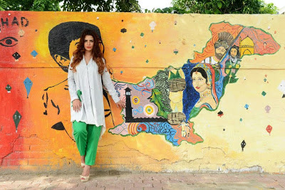 White Tunic and Green Trouser for 14th August