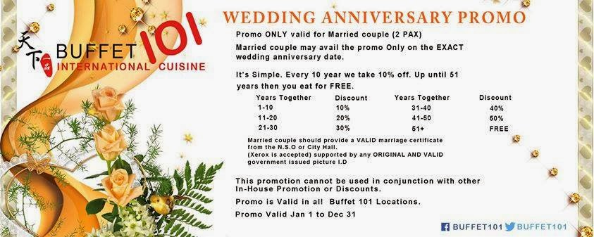 Wedding Anniversary Ideas Manila : your wedding anniversary check out buffet 101 s wedding anniversary ...